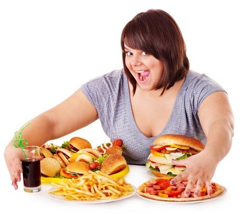 Употребление слишком больших порций блюд