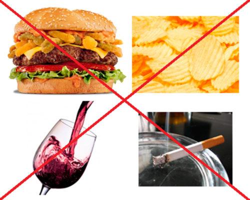 Запрещенные продукты при болезнях желчного пузыря