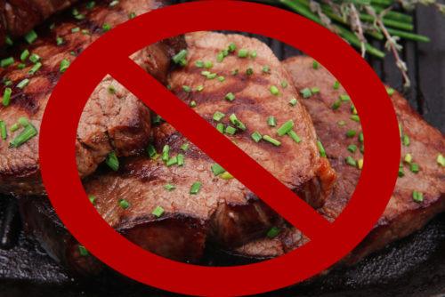 Жареное мясо запрещено