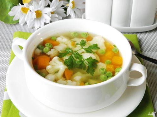 Овощной суп при полипах