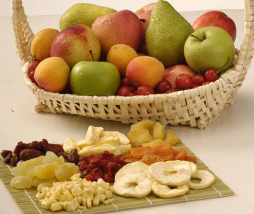 Свежие и сушеные фрукты